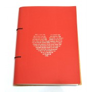 A5 Notebook - Bright Red Heart