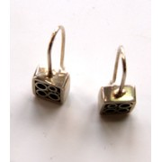 Square Tubular Hoop Earrings