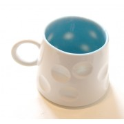 Porcelain Mug - Spotted - Blue