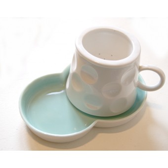 Porcelain Tea Strainer Set - Green