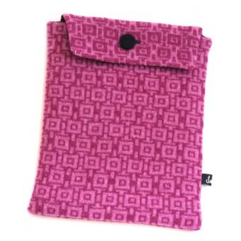 Geometric Tablet Pocket - Pink