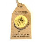 Draughts Brooch - Echinacea
