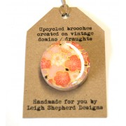 Draughts Brooch - Sakura Pink