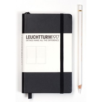 A6 Lined Notebook - Black