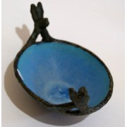 Two Hares Bowl - blue inside