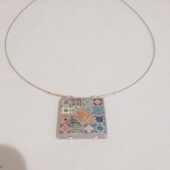 5 Piece Ceramic Necklace - Light