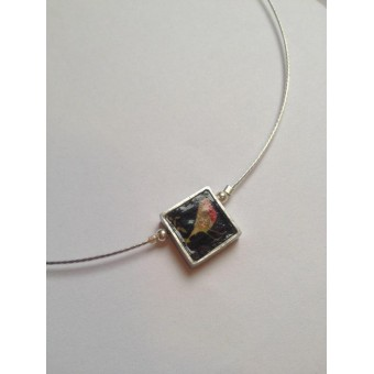 Single Square Necklace - Bird