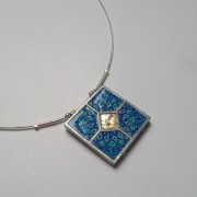 5 Piece Ceramic Necklace - Blue