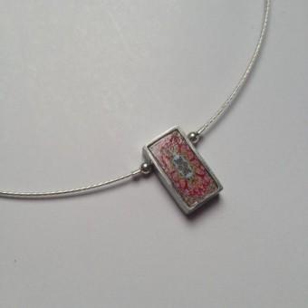 Single Oblong Necklace - Pink