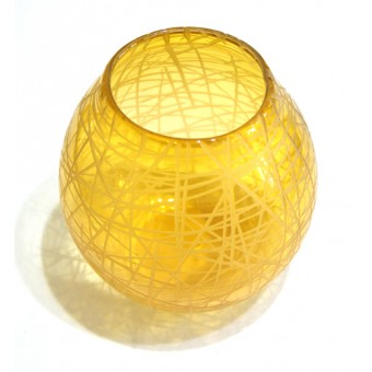 Candle Holder - Yellow