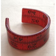 Red Double Tape Measure Cuff