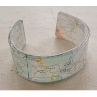 Map Cuff - Whitley Chapel