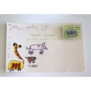 Stamp Brooch - Hippo