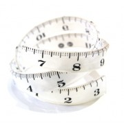 Tape Measure Wrap Bangle - White
