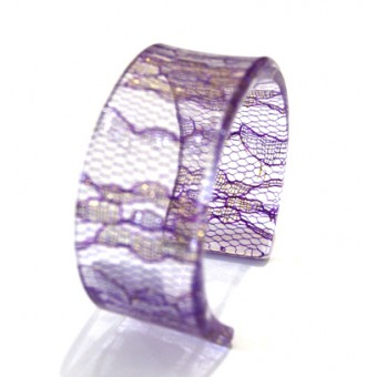 Lace Cuff - Purple