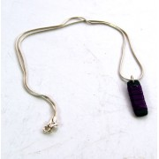 Medium Rectangular Necklace - Purple