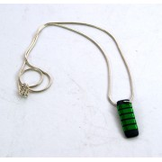 Medium Rectangular Necklace - Green