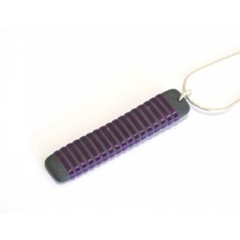 Long Rectangle Necklace - Purple
