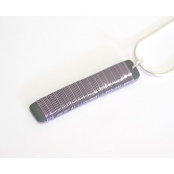Long Rectangle Necklace Light Purple
