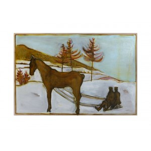 Sledge Horse - Framed