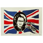 God Save Margaret Thatcher - Framed