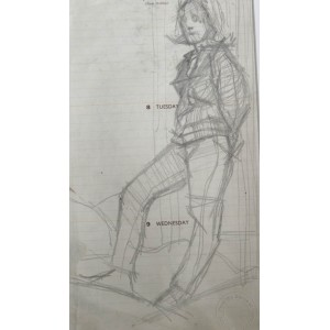Robert Lenkiewicz Sketch No17 (Double Sided)