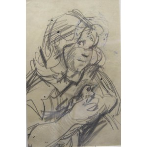 Robert Lenkiewicz Sketch No 9 (Double Sided)