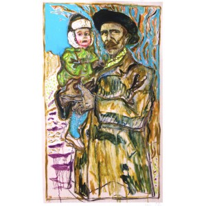 Self Portrait with Daughter - Unframed