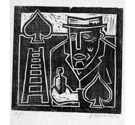 Man with Ladder and Spades